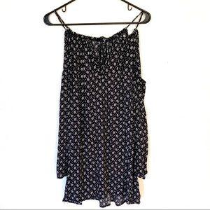 Honey Punch Cold Shoulder Long Sleeve Mini Dress S